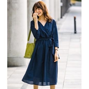【リネンタッチ】カシュクールワンピース (ワンピース)Dress