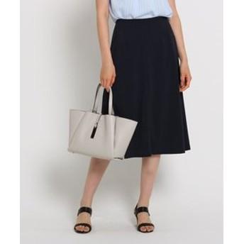 【INDIVI:スカート】[L]トリアセートストレッチライトスカート
