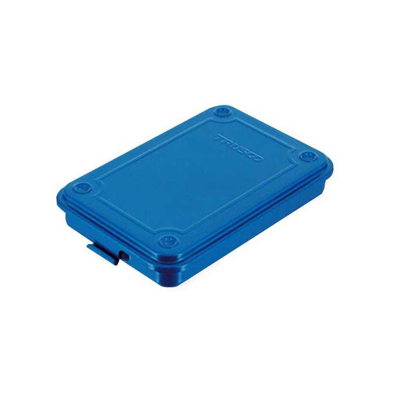 【Trusco】上掀式收納盒(薄型)-鐵藍