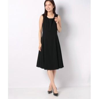 ミス ジェイ ドビークロス ドレス レディース ブラック 40 【MISS J】
