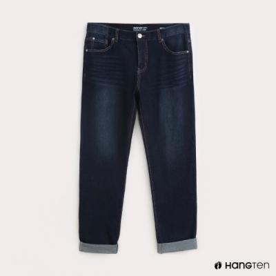Hang Ten-男裝STRAIGHT FIT經典直筒牛仔褲-深藍