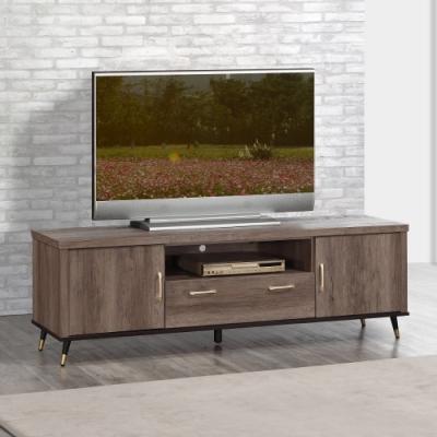 MUNA 凱爾灰橡色6尺電視櫃/長櫃  181X43X57cm