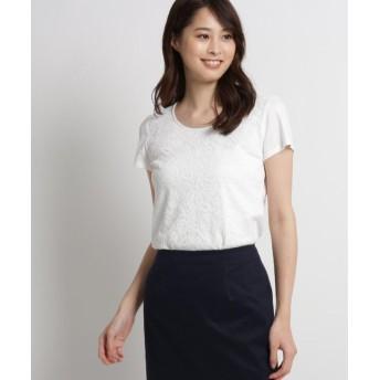 クードシャンス カミラレースTシャツ レディース ホワイト(001) 40(L) 【COUP DE CHANCE】