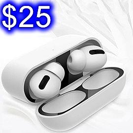 AirPods Pro耳機防塵貼 三代蘋果耳機內蓋防塵貼 金屬電鍍超薄貼紙防塵貼 耳機內蓋保護膜