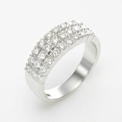 Amor  求婚戒 晶鑽排戒 銀飾戒指(052)