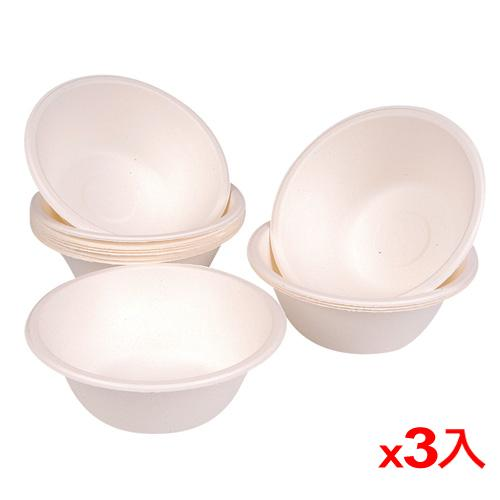 【3件超值組】純紙漿環保紙碗(300ml)12入/組【愛買】