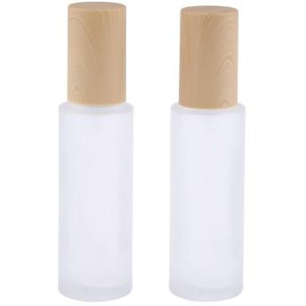 Sharplace ポンプボトル ガラスボトル 小分け容器 保存容器 エッセンシャルオイル 香水 保存用 詰替え 2個 全6選択 - 60ミリリットル