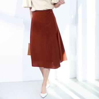 【まとめ買いでお得】リネンライクラップ風スカート【セットアップ可】【S~6L】