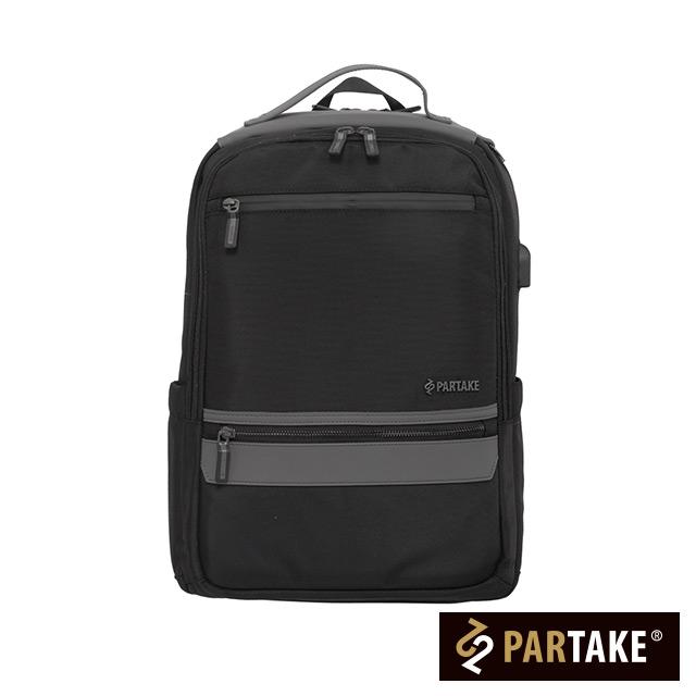 【PARTAKE】C6-電腦後背包-黑色 PT17-C6-86BK