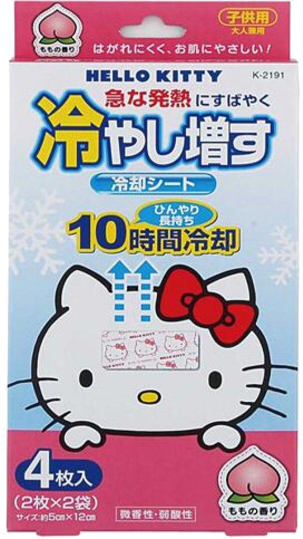 小久保KOKUBO Hello Kitty蜜桃退熱貼4入【甜蜜家族】