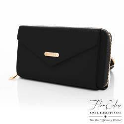 DF Flor Eden - 艾爾塔牛皮玩色側背長夾手機包-共2色