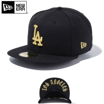 【メーカー取次】 NEW ERA ニューエラ 59FIFTY MLB UNDERVISOR ロサンゼルス・ドジャース ブラックXゴールド LOS ANGELES 12492060 キャップ 帽子【Sx】
