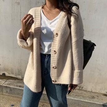 【韓国ファッションNo.1 NANING9】 カオニニットガーディガン 大人のトレンドコーデ[送料無料]着やせ効果抜群 大人可愛いナチュラル服♪着回しコーデ!最新トレンド勢揃い
