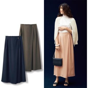 どこから見てもスカート!エレガントなスカート見えパンツ