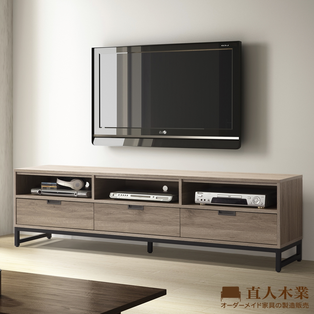 【日本直人木業】KEN古橡木182CM電視櫃