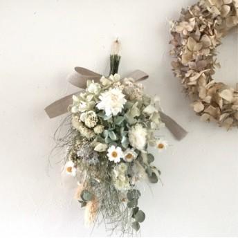 ユーカリと花かんざし ナチュラル スワッグ ドライフラワー プレゼント 母の日ギフト