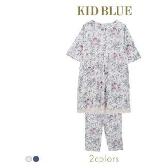 【送料無料】 (キッドブルー)KID BLUE マタニティ フォギーガーデン ルームウェア パジャマ 上下セット 前開き 産前 産後 5分袖