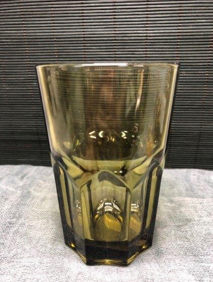 F3154 美式水杯 375ML 枯葉黃 八角杯 果汁杯 飲料杯  副餐杯 調酒 自用 營業用 廚房餐具