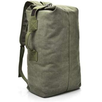 MASDF ファッション大容量旅行バックパックメンズバックパックアウトドア旅行スポーツバッグキャンバスショルダーバッグ男性 MASDF (Color : Army Green Large, Size : One size)