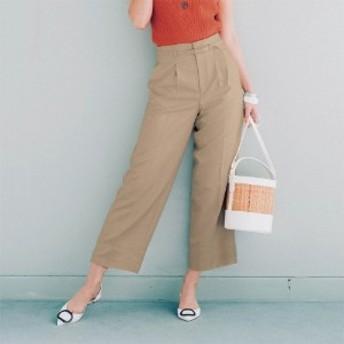 夏に嬉しい!ペタンコ靴でもすっきりはける!ワイドアンクルパンツ