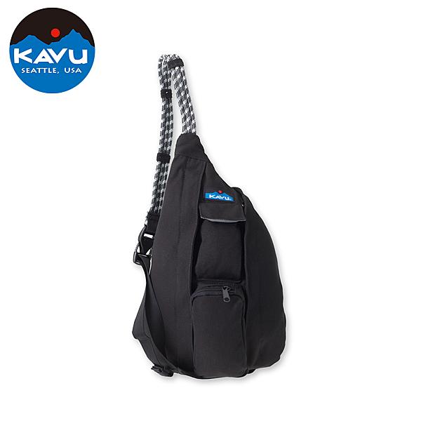 【西雅圖 KAVU】 Mini Rope Bag 休閒肩背包 黑 #9150