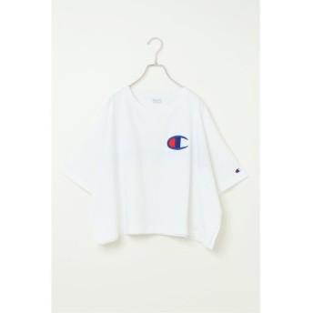 (ikka/イッカ)Champion ワイドTシャツ/レディース ホワイト
