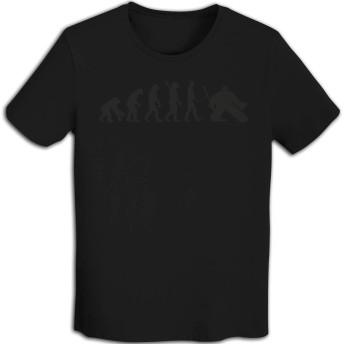 ラッキードア Tシャツ 半袖 ホッケー 人 上着 メンズ 夏服 Black XL