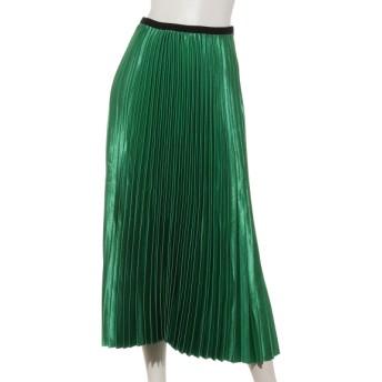 76%OFF aurea (アウレア) ラメラメプリーツスカート グリーン