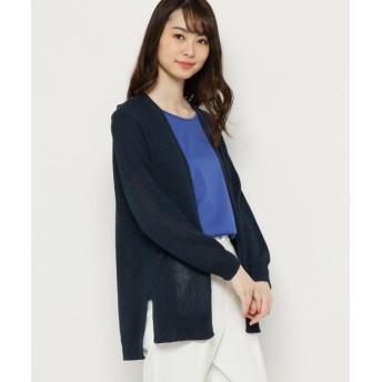 smart pink/スマート ピンク 【手洗い可】ニットロングカーディガン ネイビー(093) 40(M/ミセス)