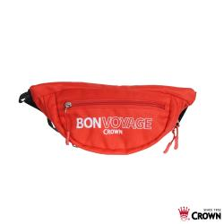 CROWN 皇冠 BONVOYAGE 運動腰包 隨身包/防潑水 紅色