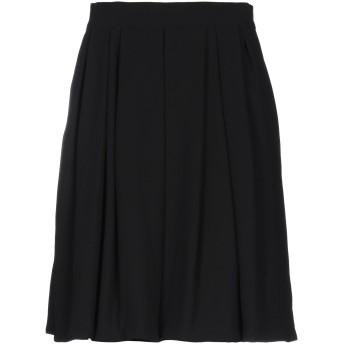《セール開催中》TRE PIUME レディース ひざ丈スカート ブラック 46 レーヨン 60% / ポリエステル 40%