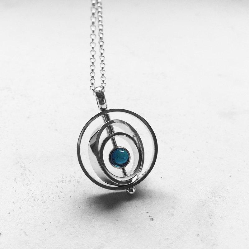 黎明之環 • 旋轉墜飾   925銀   拓帕石