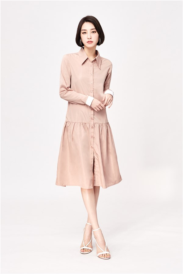輕薄雅致襯衫洋裝