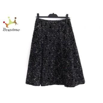 シビラ Sybilla スカート サイズL レディース 黒×ベージュ 花柄/刺繍 新着 20200317