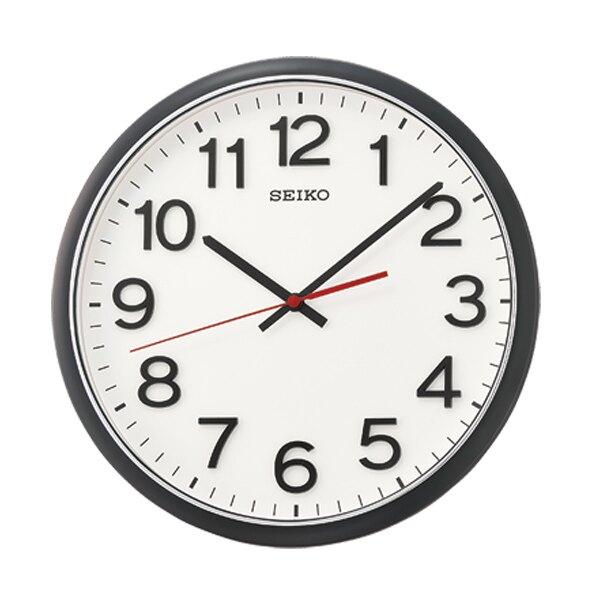 SEIKO時鐘 黑邊立體數字滑動秒針【NG88】