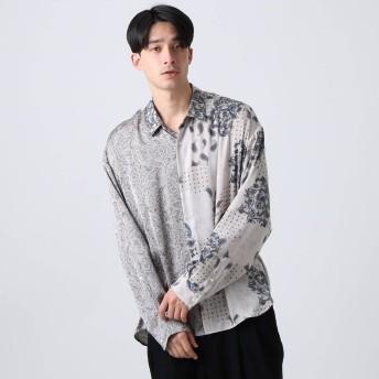ティーケー タケオ キクチ tk. TAKEO KIKUCHI マルチペイズリービッグシャツ (グレー)