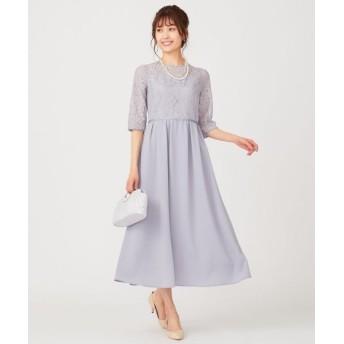 any SiS/エニィスィス 【洗える】エンパイアレーシー ドレス アイスグレー 3
