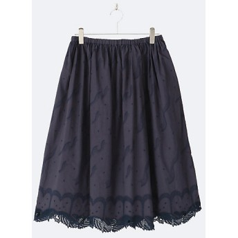 【送料無料】<マーブルシュッド/marble SUD> 大きいサイズ Kujira Lace スカート NVY(59)【三越・伊勢丹/公式】