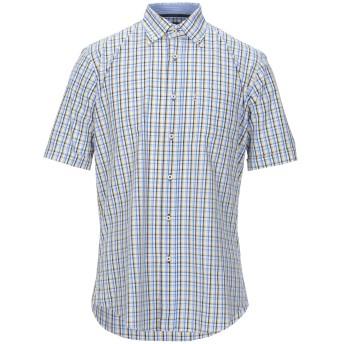 《セール開催中》WEBB & SCOTT CO. メンズ シャツ アジュールブルー M コットン 100%