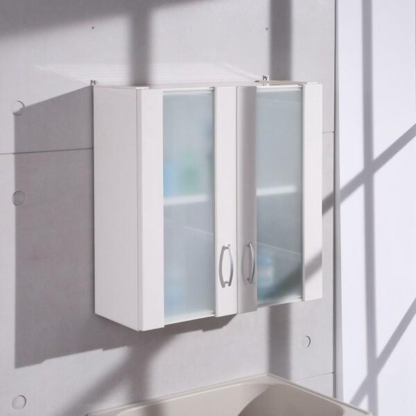 概念家居60cm霧玻塑鋼浴櫃歐式吊櫃 壁櫃 櫥櫃 廚房 飾品櫃 化妝櫃 浴室專用 c1021w