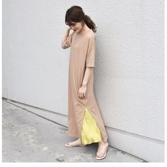 【SHIPS:ワンピース】otonaMUSE×SHIPS プリーツスカート付きTEEシャツドレス