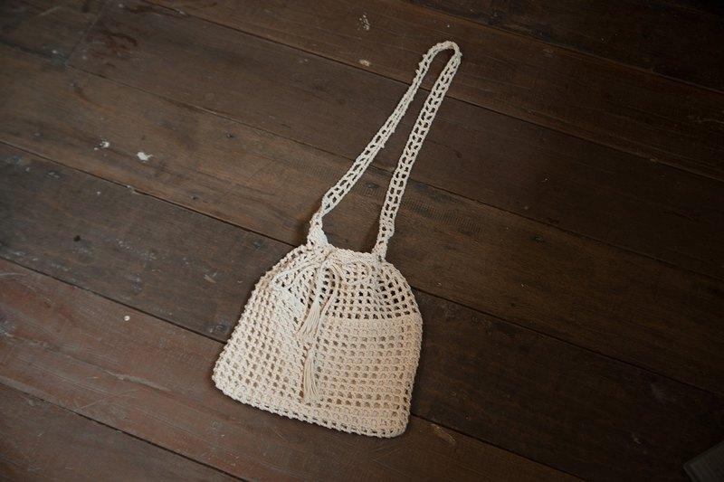 棉鉤針編織袋:斜背包