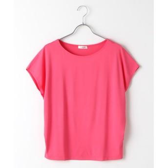 TABASA/タバサ レーヨンベア天竺フレンチスリーブTシャツ ピンク M