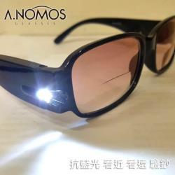 【A.NOMOS】|超值兩件組|多功能漸層片老花眼鏡+經典黑側開窗太陽掛鏡(8808_2+3009)