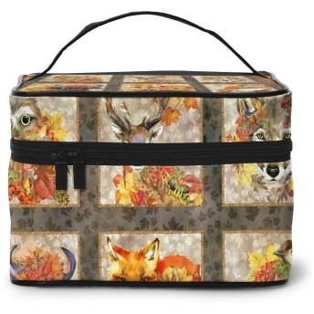 化粧ポーチ 動物の友達 化粧品バッグ 防水 多機能 大容量 持ち運び便利 旅行する