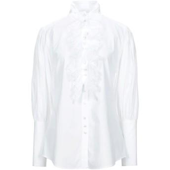 《セール開催中》DOLCE & GABBANA レディース シャツ ホワイト 38 コットン 90% / ナイロン 10%