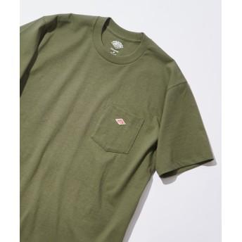 Discoat(ディスコート) メンズ 【DNTON/ダントン】 14/-空紡天竺胸ポケTシャツ グリーン