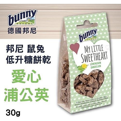 *KING*德國bunny 邦尼鼠兔低升糖餅乾 愛心浦公英 30g/包 無糖、無色素、無防腐劑