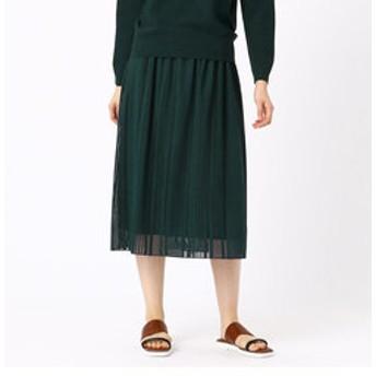 【COMME CA:スカート】ストライプ柄レーススカート