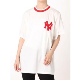 【ジュエティ/jouetie】 New York Yankees ラインリブ Tシャツ